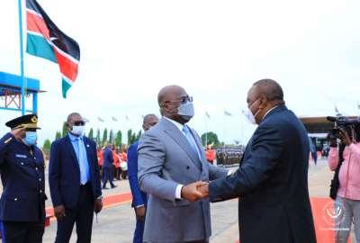 Uhuru Kenyatta en visite de travail à Kinshasa