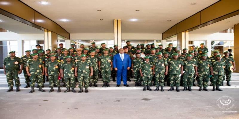 Felix avec le commandement FARDC
