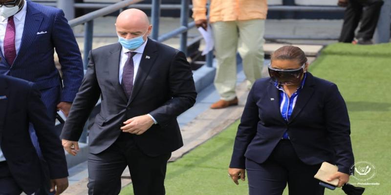 Président de la FIFA, Gianni Infantino arrivé à Kinshasa_Photo tiers