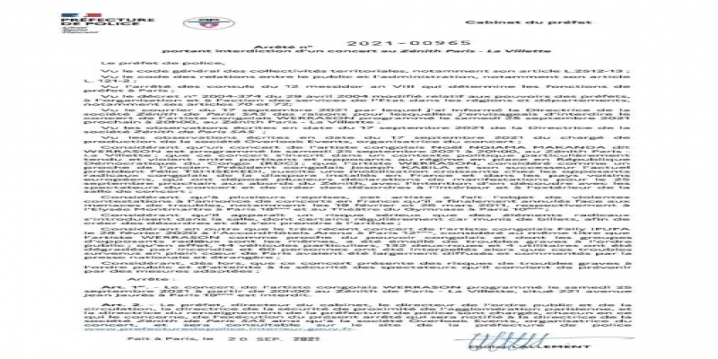 lettre annulation